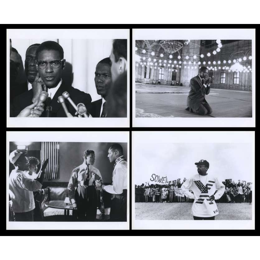 MALCOM X French Press Still X4 8x10 - 1992 - Spike Lee, Denzel Washington
