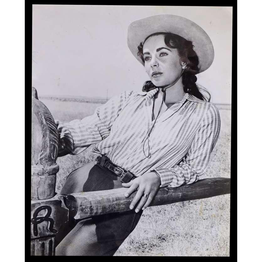 GEANT Photo de presse N1 24x30 - R1970 - James Dean, Elisabeth Taylor, George Stevens