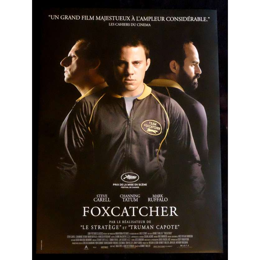 FOXCATCHER Affiche de film 40x60 - 2014 - Steve Carell, Benett Miller