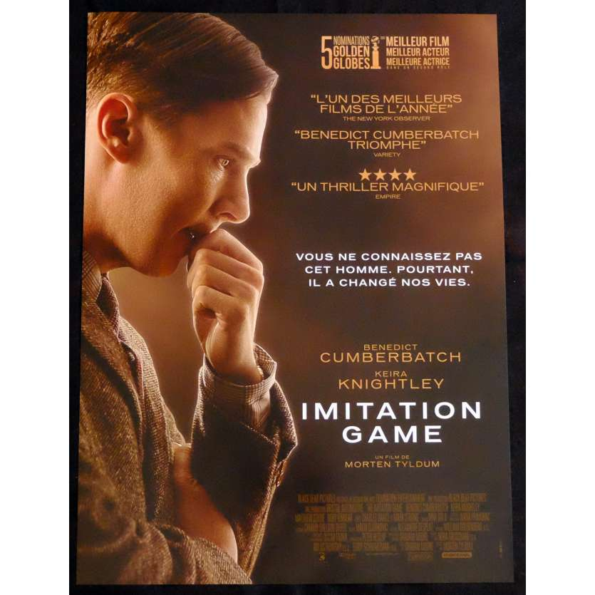 IMITATION GAME Affiche de film 40x60 - 2014 - Benedict Cumberbatch, Morten Tyldum