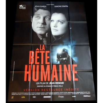 HUMAN BEAST French Movie Poster 47x63 - R2015 - Jean Renoir, Jean Gabin