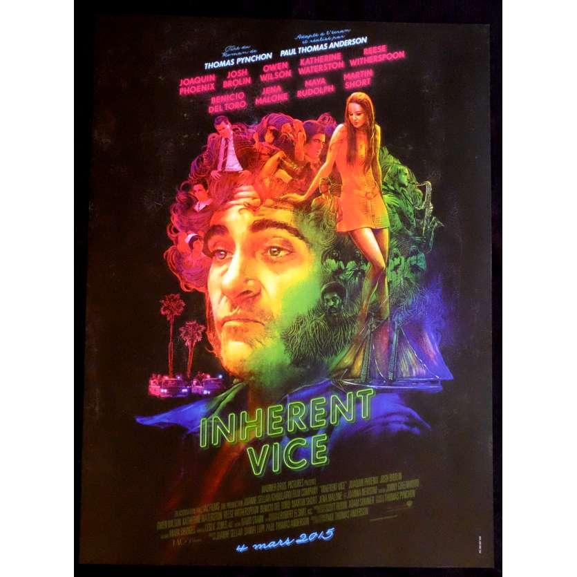 INHERENT VICE def. Affiche de film 40x60 - 2014 - Joaquin Phoenix, Paul Thomas Anderson