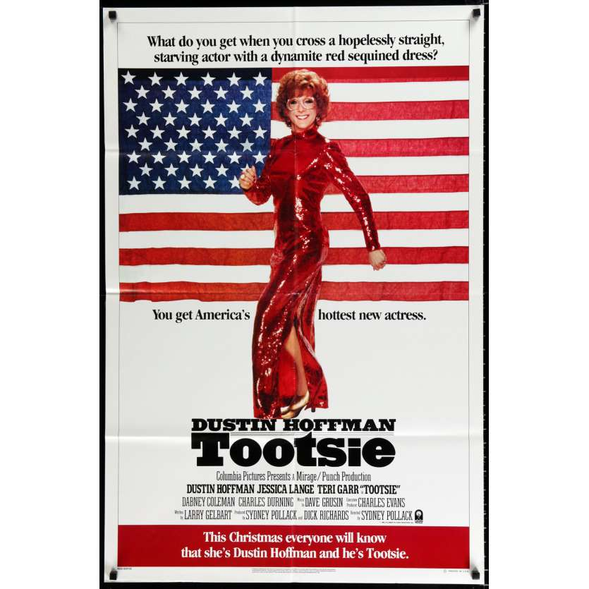 TOOTSIE US Movie Poster 29x41 - 1982 - Sydney Pollack, Dustin Hoffman