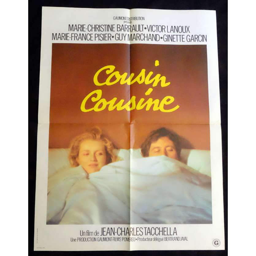 COUSIN COUSINE French Movie Poster 23x32 - 1975 - Jean-Charles Tacchella, Victor Lanoux