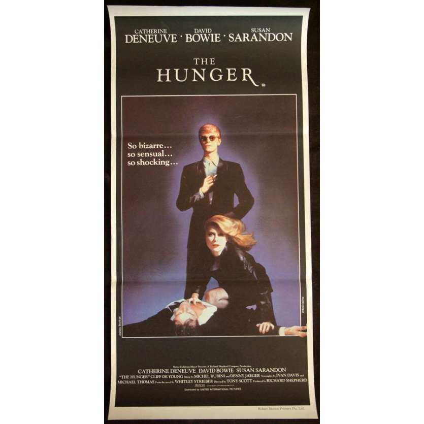 HUNGER Aust daybill movie poster '83 Catherine Deneuve, Bowie