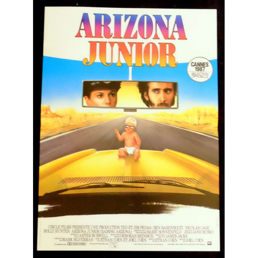 ARIZONA JUNIOR French Movie Poster 15x21 - 1987 - Ethan Coen, Nicolas Cage