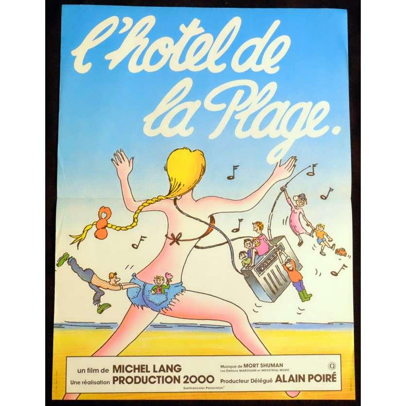 L'HOTEL DE LA PLAGE Affiche de film 40x60 - 1978 - Daniel Ceccaldi, Michel Lang