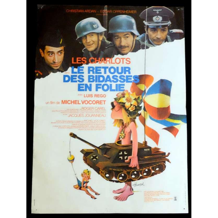 LE RETOUR DES BIDASSES EN FOLIE Affiche de film 40x60 - 1983 - Les Charlots, Michel Vocoret