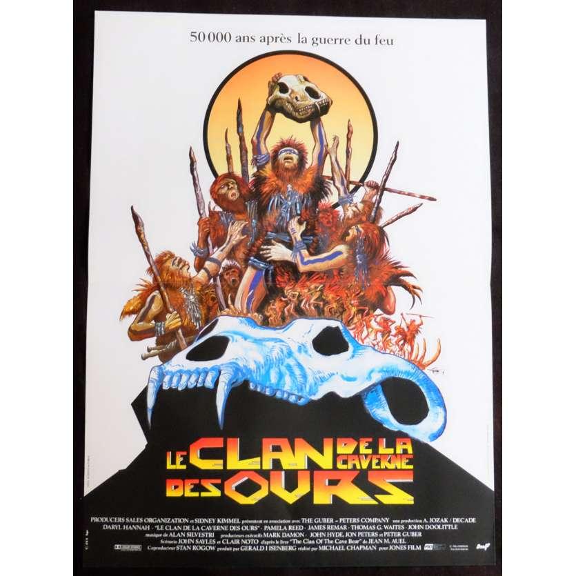 LE CLAN DE LA CAVERNE DES OURS Affiche de film 40x60 - 1986 - Daryl Hannah, Micahel Chapman