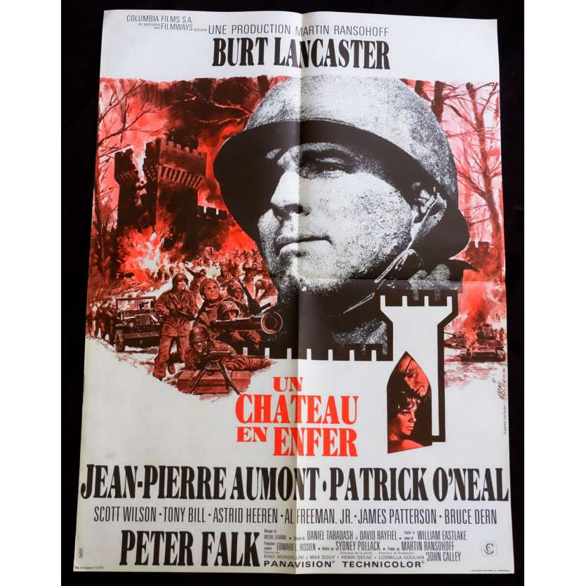 CASTLE KEEP French Movie Poster 23x32 - 1969 - Sydney Pollack, Burt Lancaster