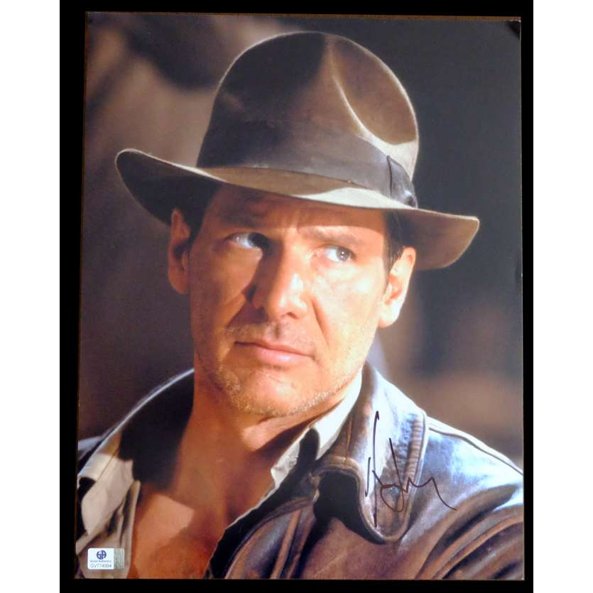 INDIANA JONES US Signed Still 11x14 - 1984 - Steven Spielberg, Harrison Ford