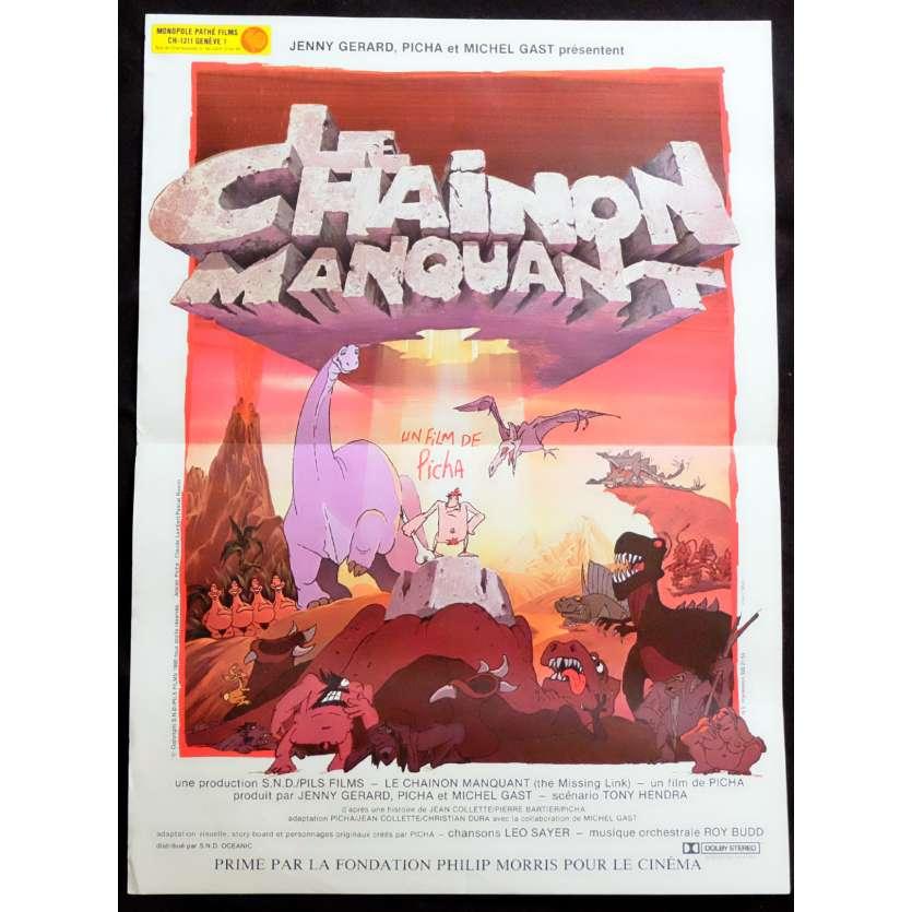 LE CHAINON MANQUANT Affiche de film 40x60 - 1980 - Richard Darbois, Picha