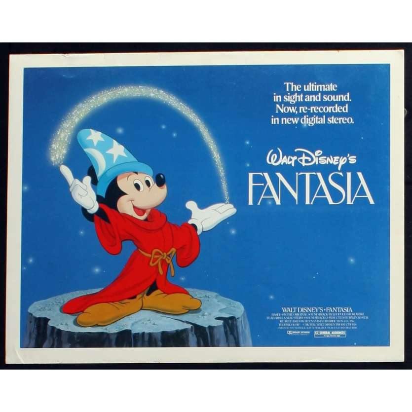 FANTASIA US Lobby Card N5 11x14 - R1982 - Walt Disney, Deems Taylor