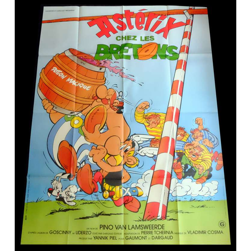 ASTERIX IN BRITAIN French Movie Poster 47x63 - 1986 - Pino Van Lamsweerde, Roger Carel