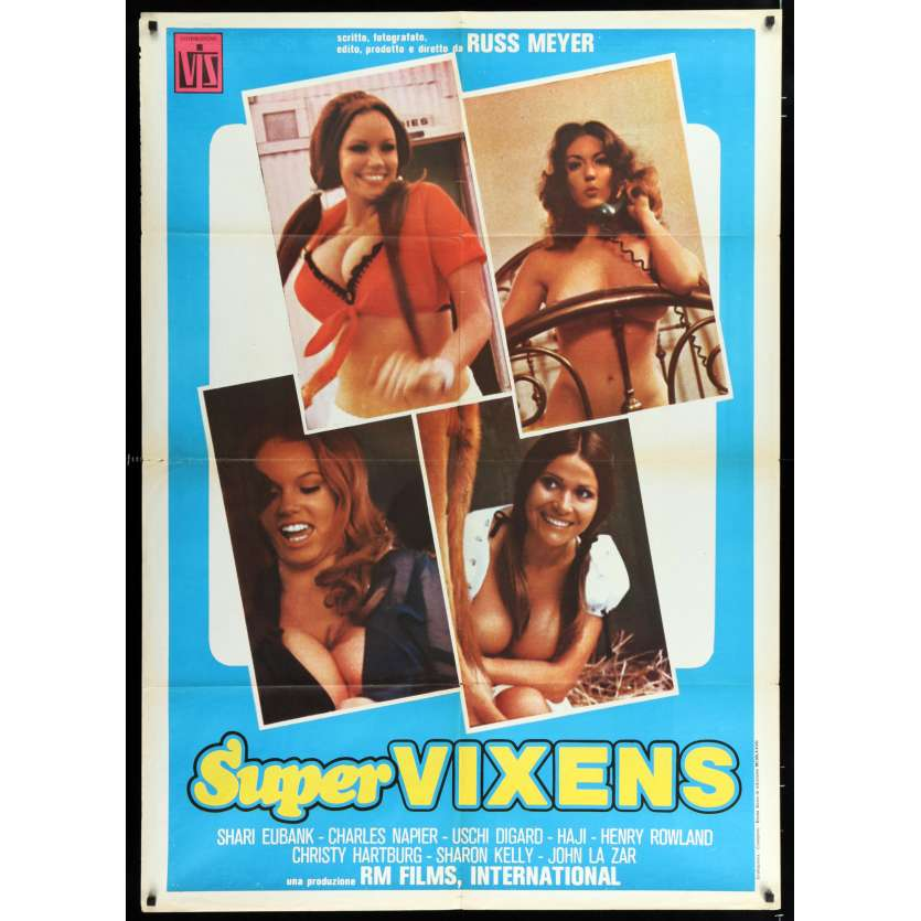 SUPER VIXENS Italian Movie Poster 35x55 - 1977 - Russ Meyer, Charles Napier