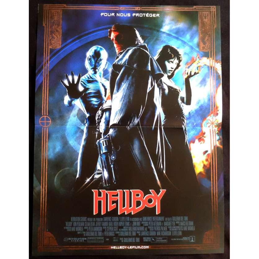 HELLBOY Affiche de film 40x60 - 2004 - Ron Perlman, Guillermo Del Toro