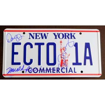 GHOSTBUSTERS US Signed Licensed Plate - 1984 - Ivan Reitman, Bill Murray, Dan Aykroyd