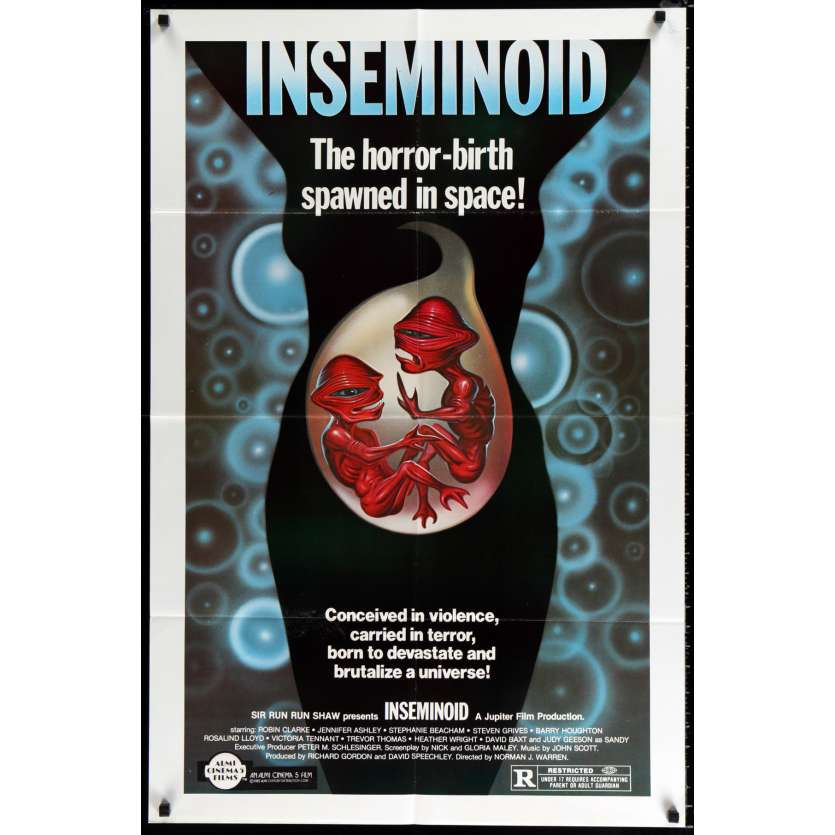 INSEMINOID US Movie Poster 29x41 - 1982 - Norman J. Warren, Robin Clarke
