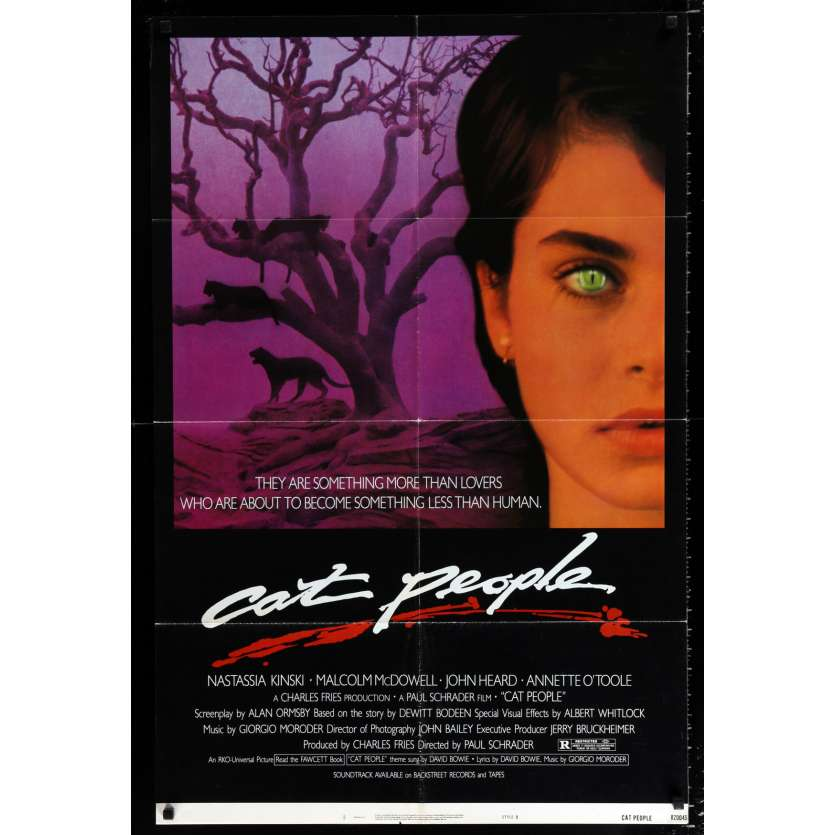 CAT PEOPLE style B 1sh Movie Poster '82 Paul Schrader Nastassja Kinski