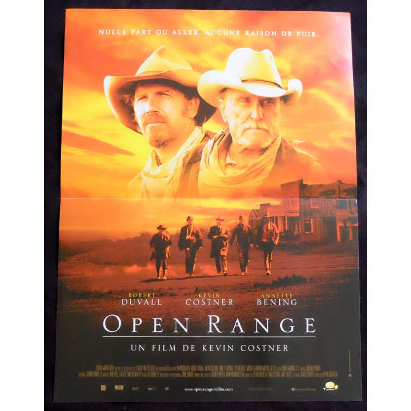 OPEN RANGE French Movie Poster 15x21 - 2003 - Kevin Costner, Robert Duvall