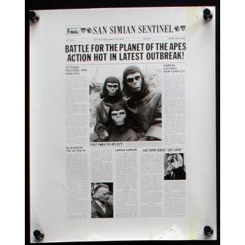 LA BATAILLE DE LA PLANETE DES SINGES Photo de presse N1 20x25 - 1973 - Roddy McDowall, J. Lee Thompson