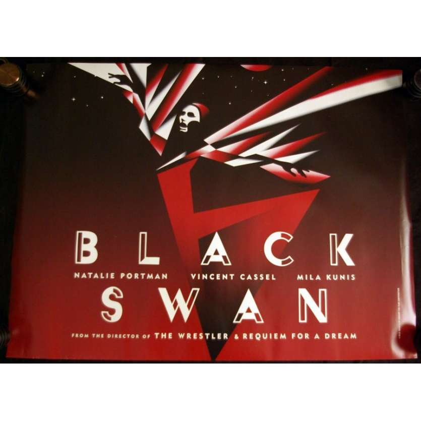 BLACK SWAN British quad teaser 1sh '10 Natalie Portman, incredible art !