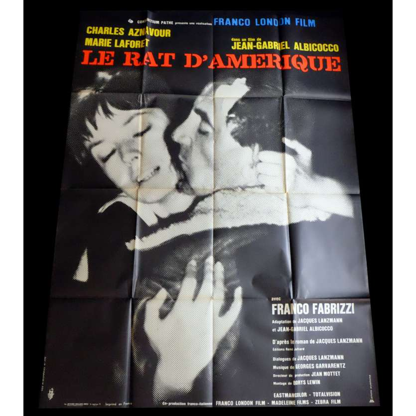 RAT TRAP French Movie Poster 47x63 - 1963 - Jean-Gabriel Albicocco, Charles Aznavour