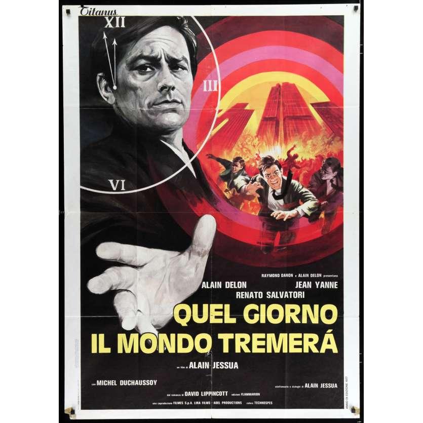 ARMAGUEDDON Affiche de film 100x140 - 1977 - Alain Delon, Alain Jessua