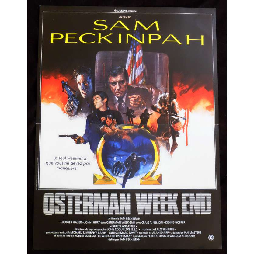 OSTERMAN WEEKEND French Movie Poster 15x21 - 1983 - Sam Peckinpah, Rutger Hauer