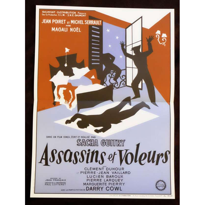 ASSASSINS ET VOLEURS Affiche de film 40x60 - R1990 - Jean Poiret, Sacha Guitry