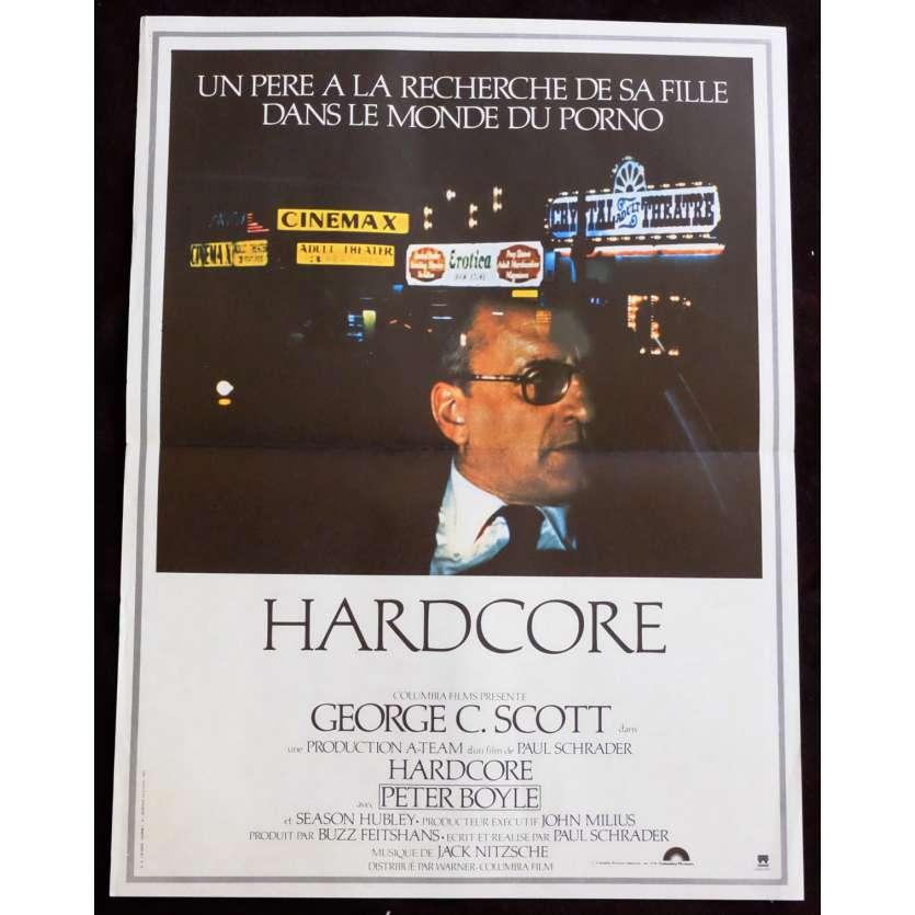 HARDCORE Affiche de film 40x60 - 1979 - George C. Scott, Paul Schrader