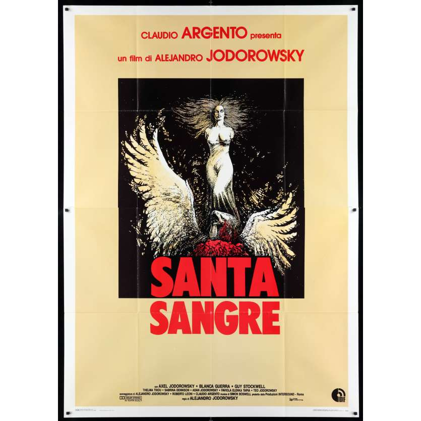 SANTA SANGRE Affiche de film 100x140 - 1989 - Axel Jodorowsky, Alejandro Jodorowsky