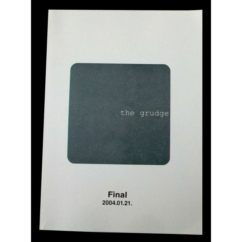 THE GRUDGE US Movie Script 9x12 - 2004 - Takashi Shimizu, Sarah Michelle Gellar