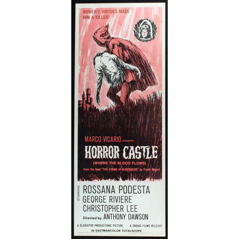 HORROR CASTLE US Movie Poster 29x41 - 1963 - Antonio Margheriti, Rossana Podestà