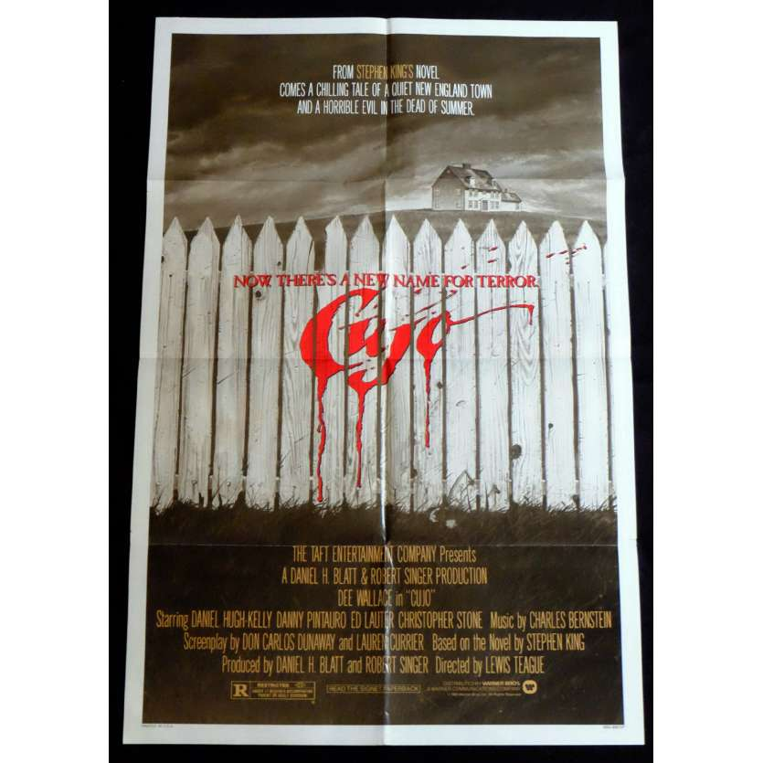 CUJO US Movie Poster 29x41 - 1983 - Lewis Teague, Dee Wallace