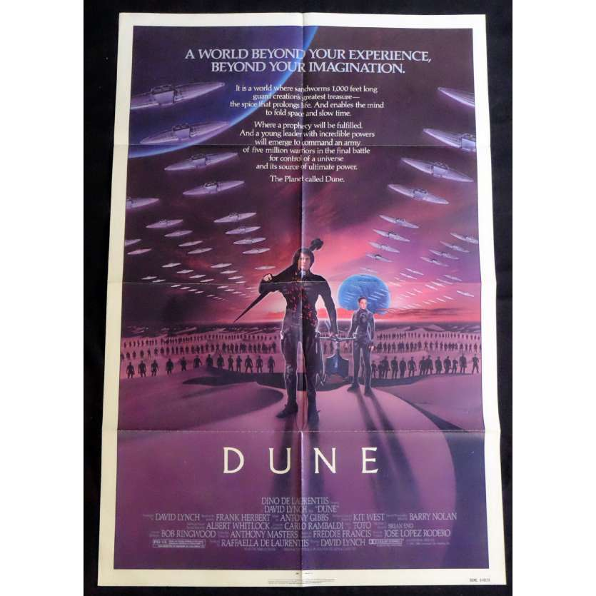 DUNE one-sheet movie poster '84 David Lynch sci-fi fantasy epic!