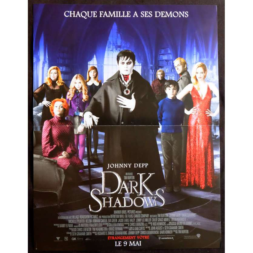 DARK SHADOWS French Movie Poster 15x21 - 2012 - Tim Burton, Johnny Depp