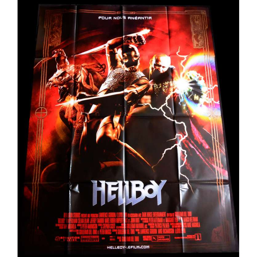 HELLBOY Style B French Movie Poster 47x63 - 2004 - Guillermo Del Toro, Ron Perlman