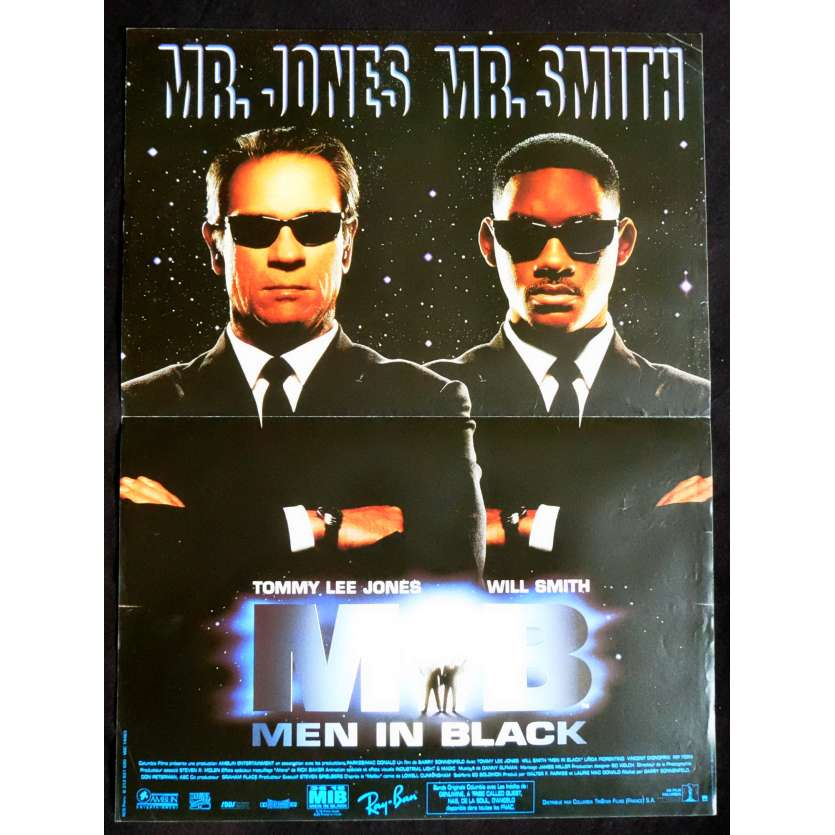 MEN IN BLACK Affiche de film 40x60 - 1997 - Will Smith, Barry Sonnenfeld