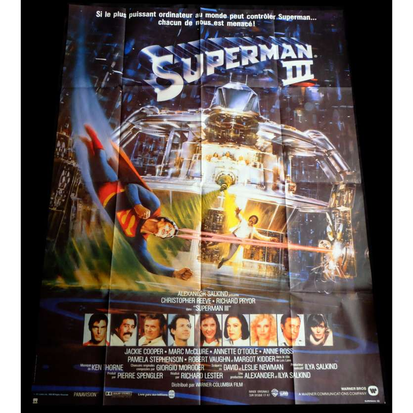 SUPERMAN 3 French Movie Poster 47x63 - 1983 - Richard Lester, Christopher Reeves