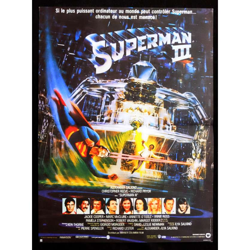 SUPERMAN 3 Affiche de film 40x60 - 1983 - Christopher Reeves, Richard Lester