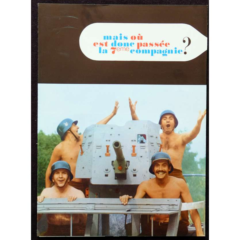NOW WHERE DID THE 7th COMPANY GET TO French Herald 6p 9x12 - 1973 - Robert Lamoureux, Jean Lefebvre, Pierre Mondy