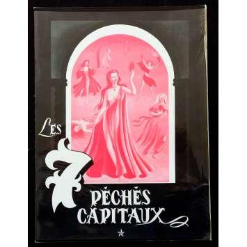 LES 7 PECHES CAPITAUX Synopsis 12p 21x30 - 1952 - Michèle Morgan, Claude Autant-Lara