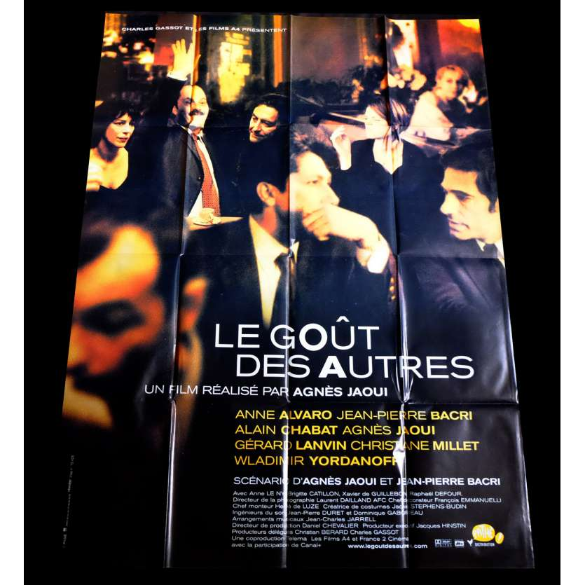 THE TASTE OF OTHERS French Movie Poster 47x63 - 2000 - Agnès Jaoui, Jean-Pierre Bacri