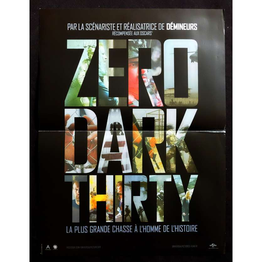 ZERO DARK THIRTY Affiche de film 40x60 - 2012 - Jessica Chastain, Kathryn Bigelow