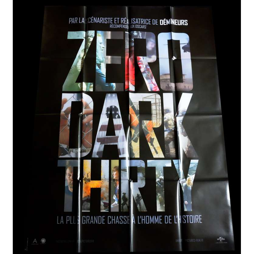 ZERO DARK THIRTY Affiche de film 120x160 - 2012 - Jessica Chastain, Kathryn Bigelow