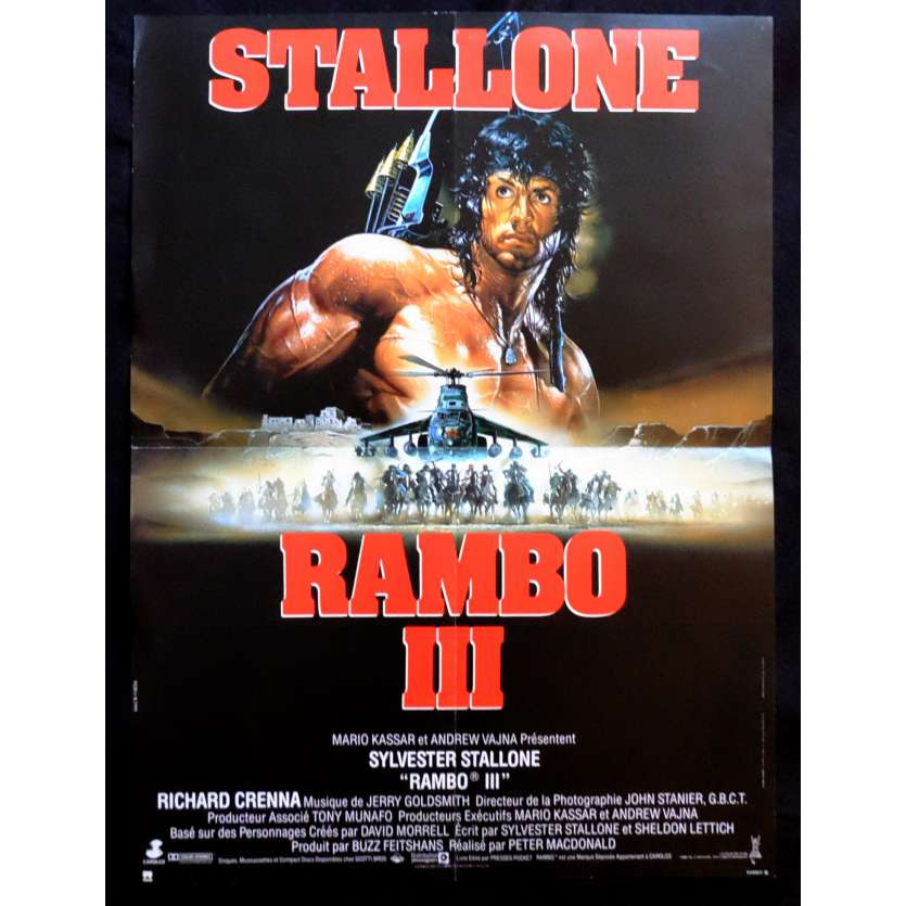 RAMBO 3 French Movie Poster 15x21 - 1988 - Sylvester Stallone, Richard Crenna