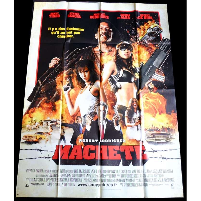 MACHETE Style B Affiche de film 120x160 - 2010 - Danny Trejo, Robert Rodriguez
