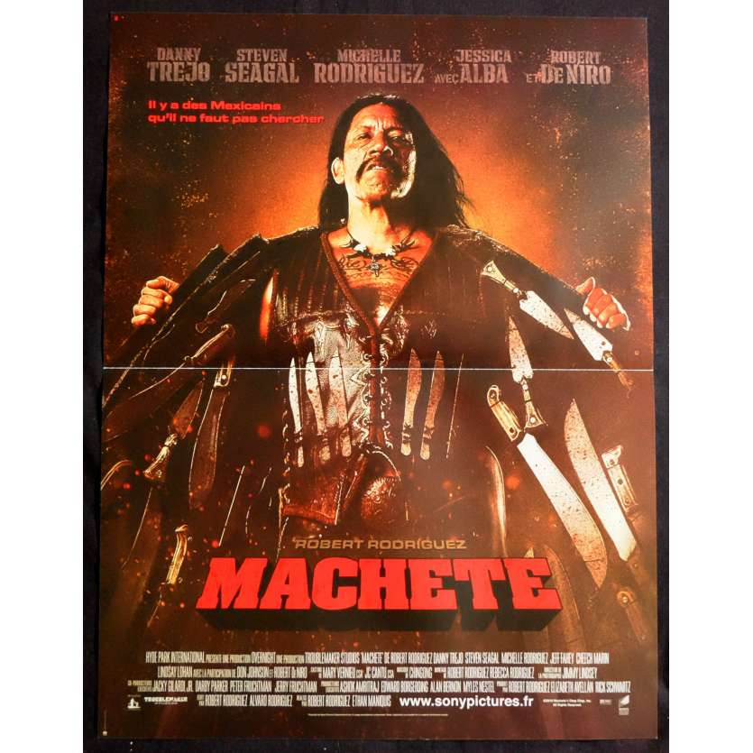 MACHETE French Movie Poster 15x21 - 2010 - Robert Rodriguez, Danny Trejo