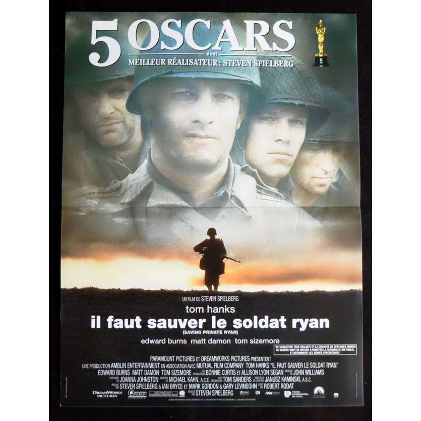 SAVING PRIVATE RYAN French Movie Poster 15x21 - 1998 - Steven Spielberg, Tom Hanks